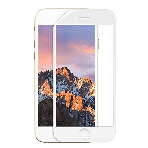 iPhone 7 Plus Screen Protector, TORRAS [Spirit Seires] 3D Curved Full Coverage HD 0.25mm Ultra Thin Oil Resistant Anti-Fingerprint Tempered Glass for Apple iPhone 7 Plus- White