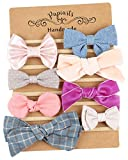 Baby Girl Headbands and Bows, Newborn Photo Prop, Assorted 8 Packs of Hair Accessories for Girls
