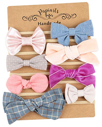 - Baby Girl Headbands and Bows, Newborn Photo Prop, Assorted 8 Packs of Hair Accessories for Girls