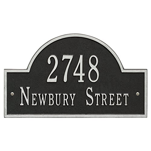 2 Line Arch Marker Address Plaque 16