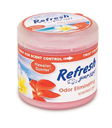 Refresh Your Car! E301459500 Scented Gel Can, 4.5 oz, Hawaiian Sunrise