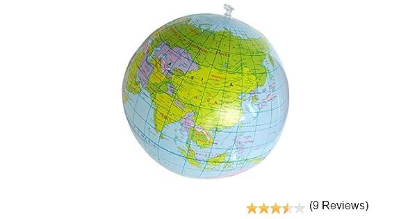 TOOGOO(R) Juguete inflable Juguete educativo Globos de mapa de geografia pelota de playa 40 cm