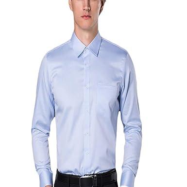 Fiyomet Camisas de Vestir para Hombres Camisa de Traje de Rayas ...