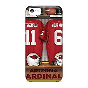 MMZ DIY PHONE CASEiphone 6 plus 5.5 inch Case Cover - Slim Fit Tpu Protector Shock Absorbent Case (arizona Cardinals Uniform)