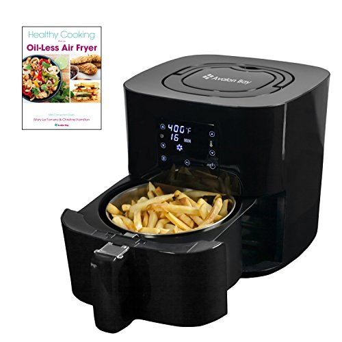 Avalon Bay Digital Air Fryer with Stainless Steel Basket, For Healthy Fried Food, 8 Presets, 2.65 Quart Capacity, AF25BSS by Avalon Bay