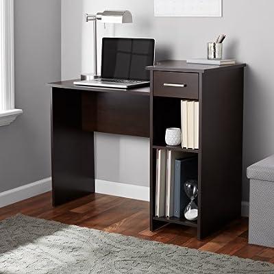 Mainstays Student Desk Home Office Bedroom Furniture Indoor Desk, Espresso