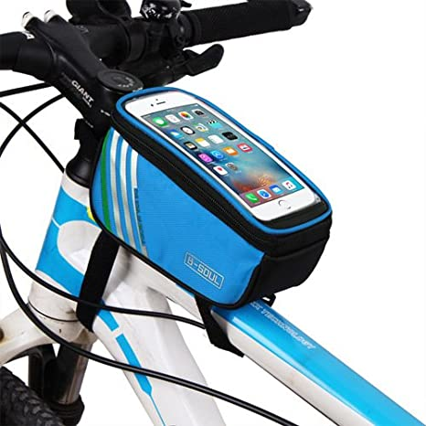 Tubo Superior Delantera Bicicleta Bolsa – Bolsas de 5,7 pulgadas ...