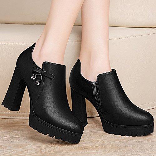 KHSKX-Dicke Sohle Wasserdicht Tisch Einzelne Schuhe Hochhackige Schuhe Schuhe Schuhe Ferse Wasserfeste Schuhe Frauen - Mode 481d6a