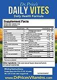 Daily Vites: Complete Multivitamin & Mineral Formula, B Complex, Biotin, Vitamin D, Calcium, Magnesium, B12 | NEW & Improved Flavor! (30 powder packets) Vitamin Drink Mix | Dr. Prices Vitamins | No Sugar, Non-GMO & Gluten Free