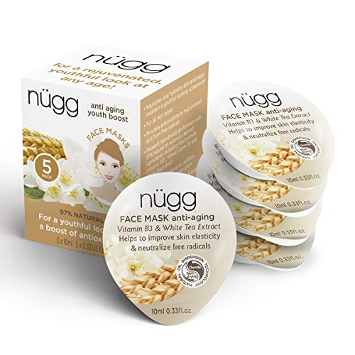 Nugg Beauty Anti Aging Mask - Vitamin B3 & White Tea Extract - 0.33 oz. each - 5 ct (1.65 oz total)