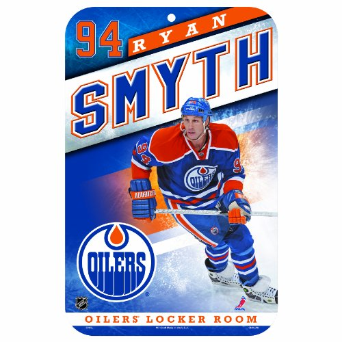 NHL Edmonton Oilers Ryan Smyth 11-by-17 Inch Locker Room (Ryan Smyth Edmonton Oilers)