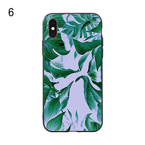Plum Flamingo - Wintefei Light PC Fashion Plum Flower Flamingo Horse Cases Covers Protector for iPhone X 7 8 Plus - 6# for iPhone X (10)