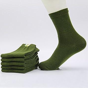 Wanglele Los Hombres Calcetines Militares De Transpirable De Algodón Grueso Tubo Calcetines Calcetines Calcetines De Algodón Y Diez Pares De Códigos ...