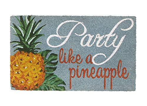 Door Mat Welcome Mat Front Door Mats Outdoor Mats 'Party Like a Pineapple' Coir Doormat 2.5 ft. x 1.5 ft.