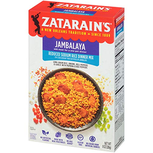 ZATARAIN'S Reduced Sodium Jambalaya Mix, 8-Ounce (Pack of 6) (Jambalaya Mix Rice)