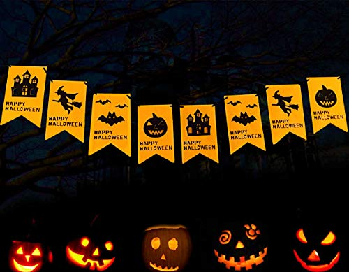 JeVenis Halloween Witch Party Banner for Halloween Party Decorations Supplies Decorations Magic Hat New Designs
