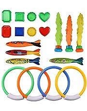 Winbang Duikspeelgoed, Zwembad Speelgoed Onderwater Speelgoed Duikset met Duikringen Torpedo Schatten Waterdichte Duiktraining Gift voor Kinderen