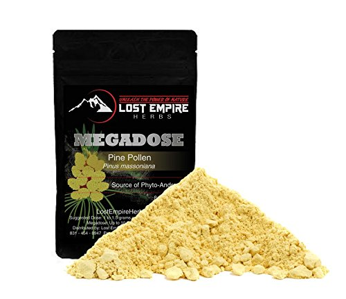 Organic Pine Pollen Powder Megadose - Broken Cell Wall for Optimal Absorption - Packed with Amino Acids, Antioxidants, Vitamins - Vegan and Paleo Friendly, Gluten Free - (250 g) by Lost Empire Herbs