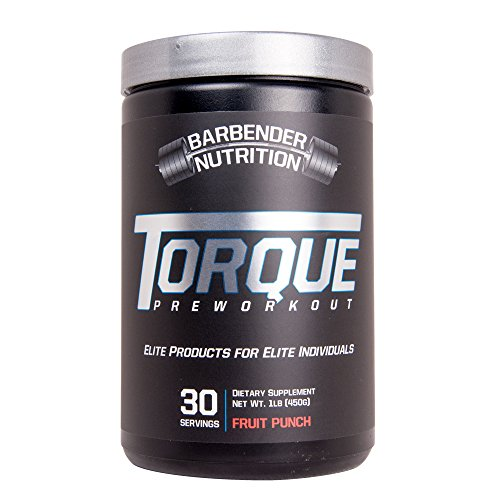 Barbender Nutrition Torque Preworkout Powder - Best Pre-Workout Energy Supplement for both Men and Women - Increased Energy, Pump, Focus, and Endurance - N.O Booster - Fruit Punch 30 servings