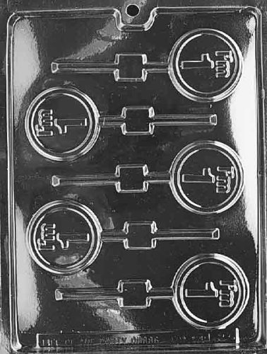 One Mold - Cybrtrayd L023 I'm 1 Lolly Chocolate Candy Mold with Exclusive Cybrtrayd Copyrighted Chocolate Molding Instructions