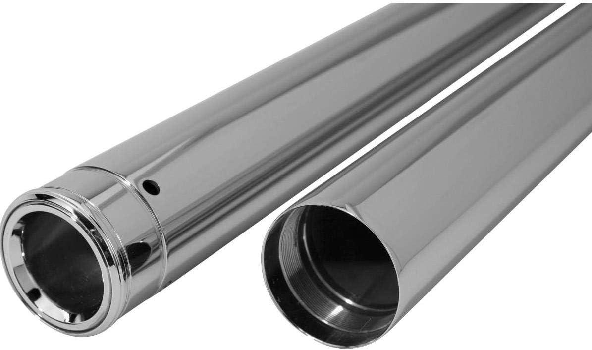 Dew Manufacturing 39mm 30.25in Show Chrome Fork Tubes for Harley Davidson 1987