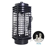 Bug Zapper Lamp, Mosquito Insect Killer Lamp Electric Pest Moth Wasp Fly Mosquito Killer Trap LED Camping Lantern Tent Light for Indoor Bedroom Kitchen Outdoor Garden Patio Yard Office(US Plug,black)