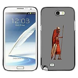 Exotic-Star ( African Man Masai Bushman 3D ) Fundas Cover Cubre Hard Case Cover para SAMSUNG Galaxy Note 2 II / N7100