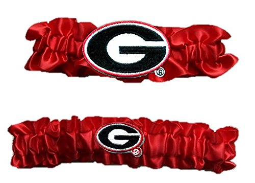 "Georgia Satin Garter Set ""One to Keep,One to Throw"""