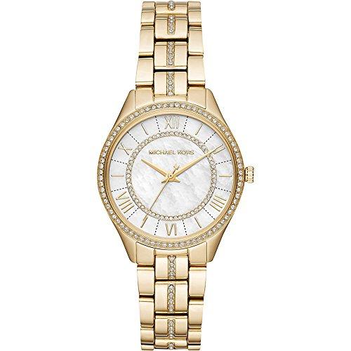Michael Kors Watches Womens Mini Lauryn Gold-Tone Watch