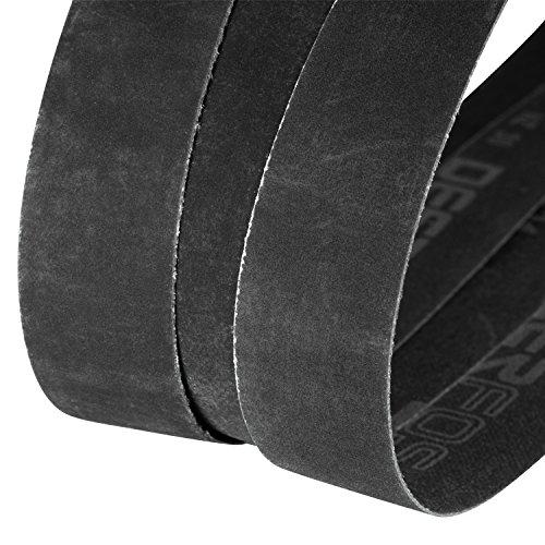 Sanding Belt, Sander Belts Assortment, 1 x 30 Inch, 12 Pack, 400, 600, 800, 1000 Grits, Silicon Carbide, Fine Grit, Assorted Abrasive Cloth for Knife Sharpening