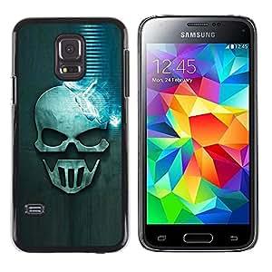 "For Samsung Galaxy S5 Mini ( NOT for regular S5 ) , S-type Cráneo azul"" - Arte & diseño plástico duro Fundas Cover Cubre Hard Case Cover"
