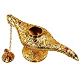 Honoro Vintage Aladdin Magic Genie Lamp,Metal