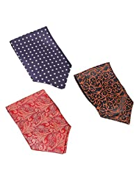 Bundle Monster 3pc Mix Pattern Mens High Class Fashion Ascot Cravat Ties - Set 3, Stylishly Done