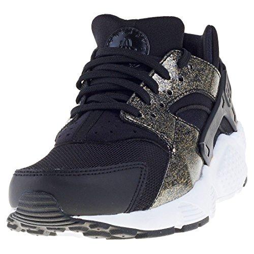 2ae3a494a96f Galleon - NIKE Air Huarache Run SE (GS) Girls Fashion-Sneakers 904538-005 6.5Y  - Black Metallic Gold White
