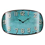 Glenna Jean Happy Camper Surf Shop Metal Wall Clock, Teal