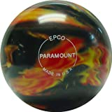 EPCO Candlepin Bowling Ball- Marbleized - Black, Red & Yellow Single Ball