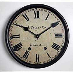 1911 English Longcase Wall Clock, Beautiful Ultra Lightweight Metal Frame. Available in 8 Sizes, Most Sizes Ship The Next Business Day, Whisper Quiet.
