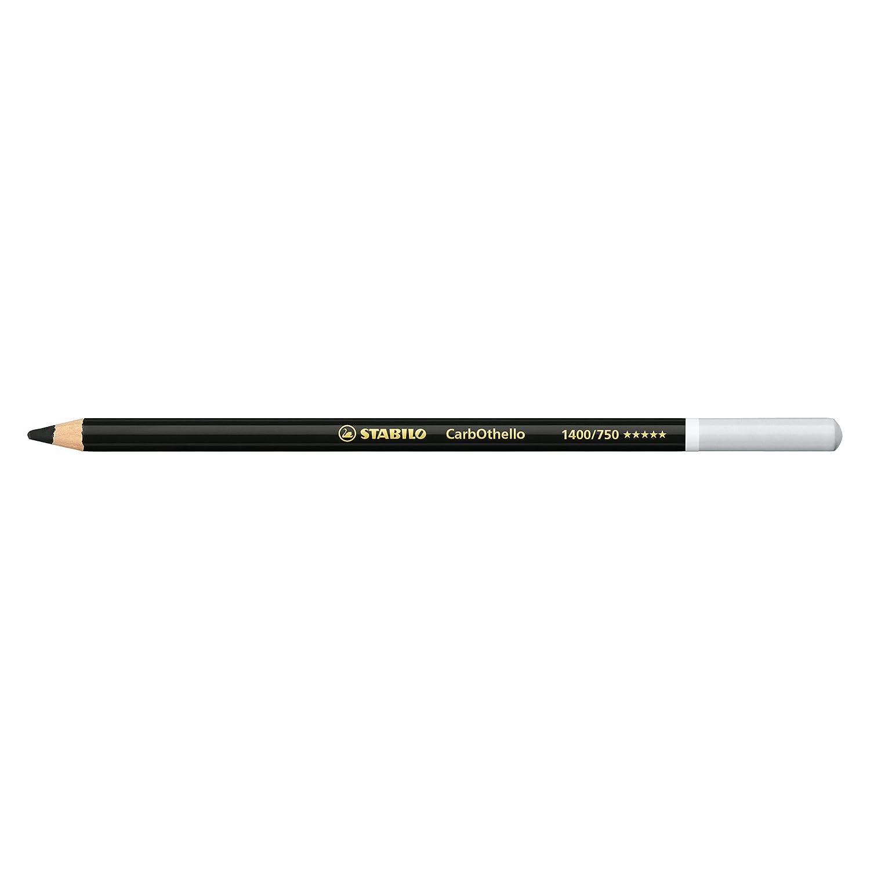 Stabilo CarbOthello Crayons Fusain Noir de bougie 1400/750