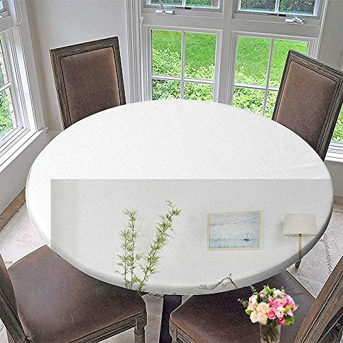 """Round Polyester Tablecloth Table Cover Simple Style Furniture, Furniture, Furniture, Sofa Cabinet, Cupboard and Bookcase for Most Home Decor 67""""-71"""" Round (Elastic Edge) from Mikihome"""