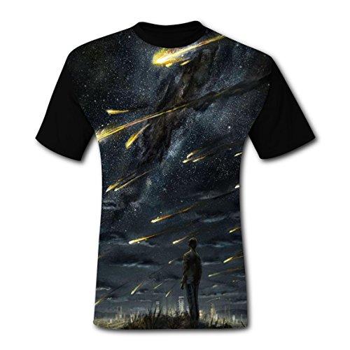 Men Meteor Shower Comfortable Tee Shirt - Man Online Meteor