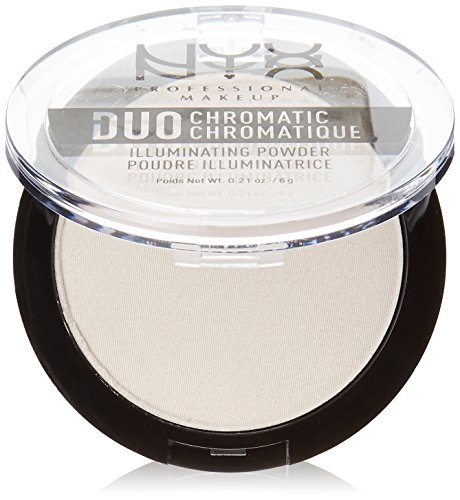 NYX PROFESSIONAL MAKEUP Duo Chromatic Illuminating Powder, Snow Rose, 0.21 Ounce