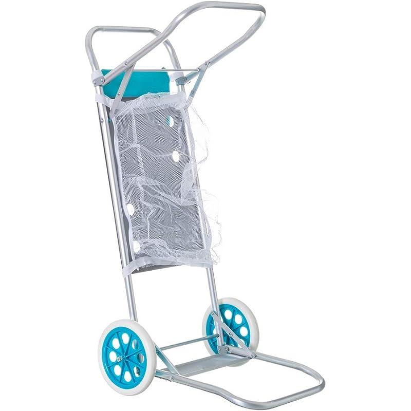 LOLAhome Carro portasillas Plegable Azul para Camping y Playa Nuevo y Mejorado