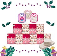 KaWaii Baby Holiday Gift Pack 10 One Size Heavy Duty HD3 Pocket Cloth Diaper + 10 One Size Premium 5-Layered B