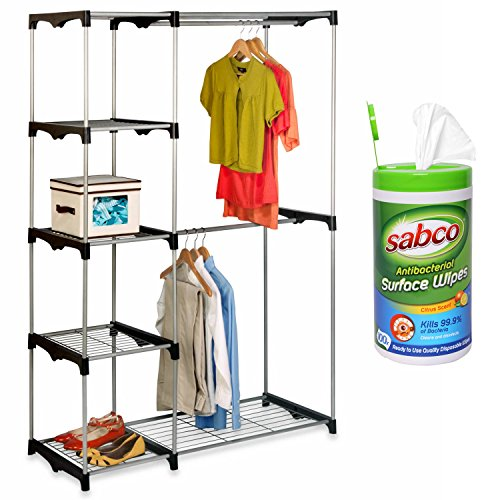 Honey Can Do Freestanding Wardrobe Stacking Disinfectant