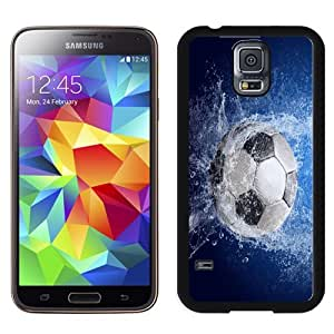 Easy use Cell Phone Case Design with Football Soccer Ball Splash Galaxy S5 Wallpaper