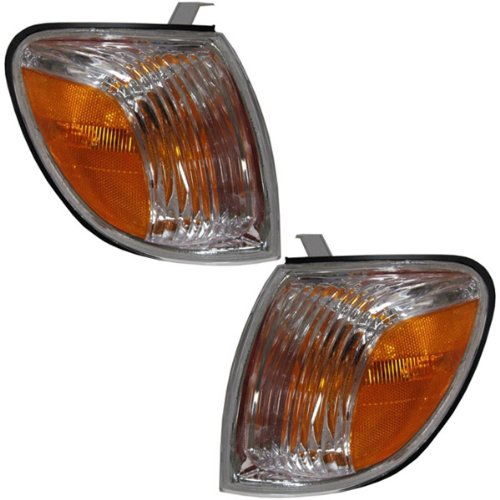 dra Pickup Truck (excluding Double Cab) Corner Park Light Turn Signal Marker Lamp Pair Set Right Passenger AND Left Driver Side (05 06) ()