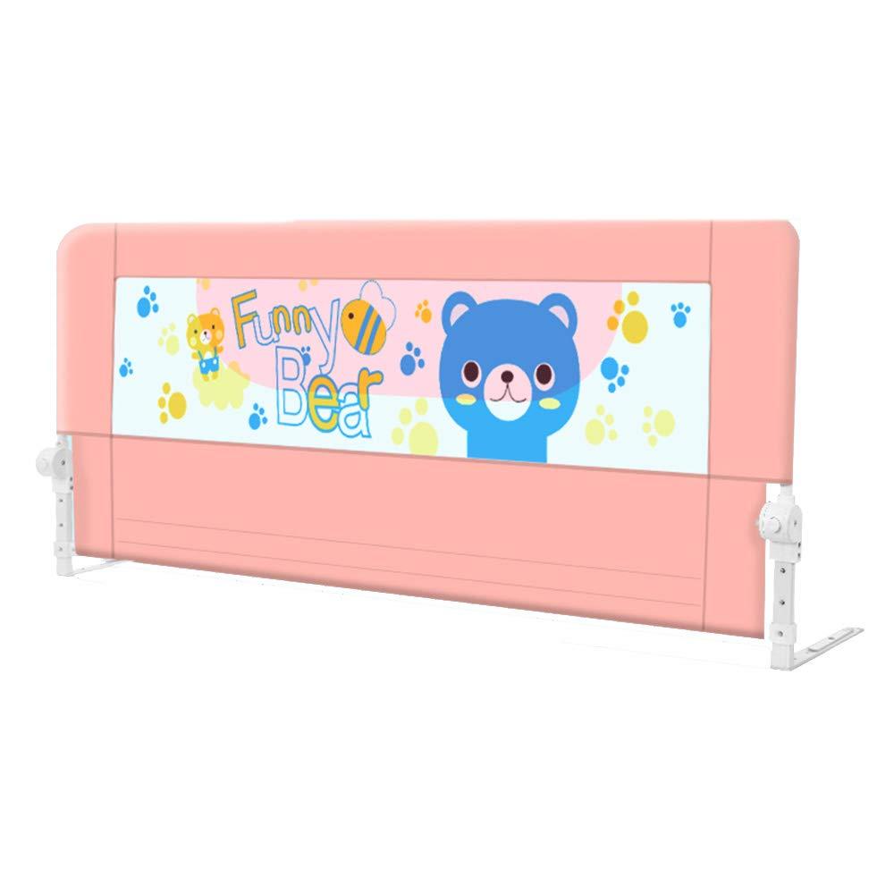 LHA ベッドガードフェンス ベビーチャイルド粉々になりにくいガードレール180°折りたたみ式ベッドガードレール-150cm、180cm、200cm (色 : Pink, サイズ さいず : L-180cm) L-180cm Pink B07MF63TGS