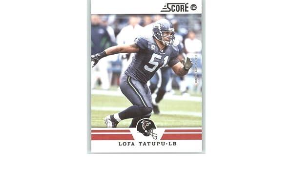 Amazon.com  2012 Score Football Card  204 Lofa Tatupu - Atlanta Falcons  (NFL Trading Card)  Collectibles   Fine Art 0ff2f9ee9