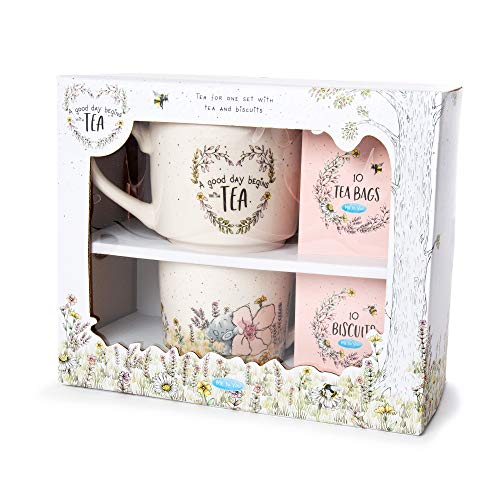 Me To You Juego Regalo – Tetera, Taza, Galletas y Bolsas de te ingles (Carte Blanche Greetings Ltd AGZ01094)