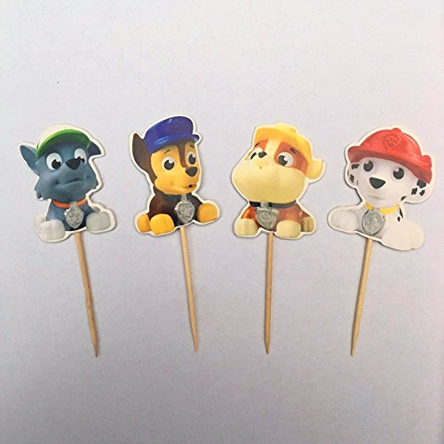 Indian Hunter Kit (Paw Patrol Cupcake Toppers Picks Birthday Party Decoration Kids Supplies 24 Pcs)